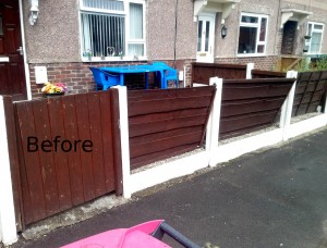 Front Fence and Gate Replacement - Helping Hands Salford
