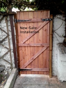New Gate Installation - Helping Hands Salford