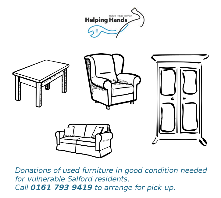 Donations of Furniture in Good Condition Needed for vulnerable Salford Residents